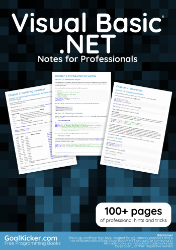 VisualBasic.NET book